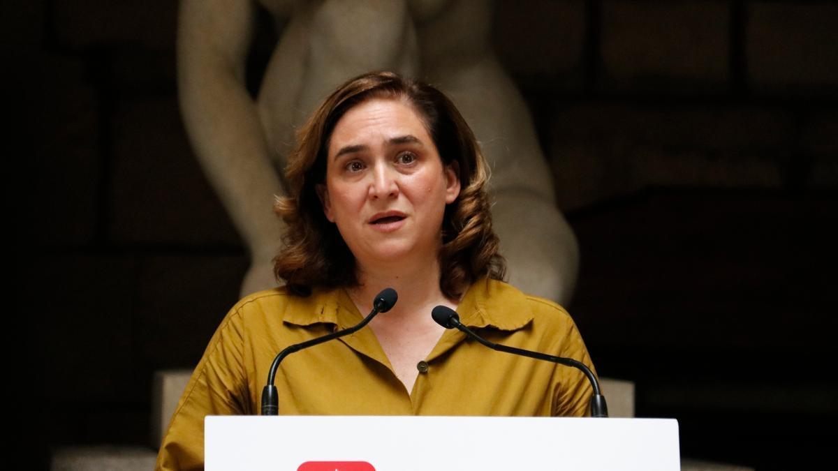 L'alcaldessa Ada Colau en un acte el 26 de juliol