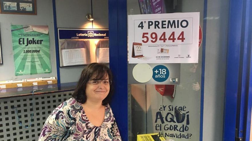 El 59444, cuarto premio de la Lotería de Navidad, vendido en Palma y Can Picafort