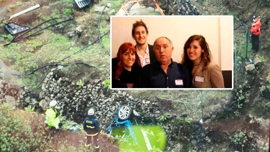 Bomberos y Guardia Civil trabajan en el rescate de la familia avilesina despeñada en Canarias
