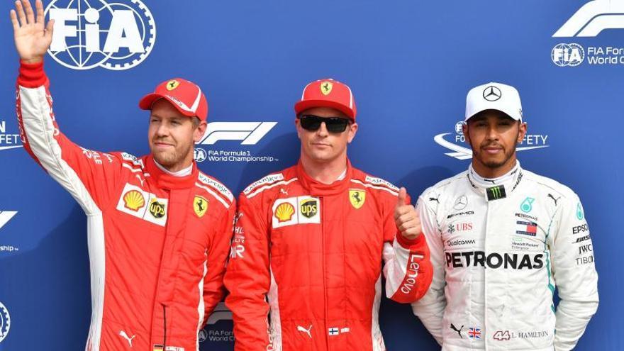 Raikkonen sorprende a Vettel y Hamilton en Monza