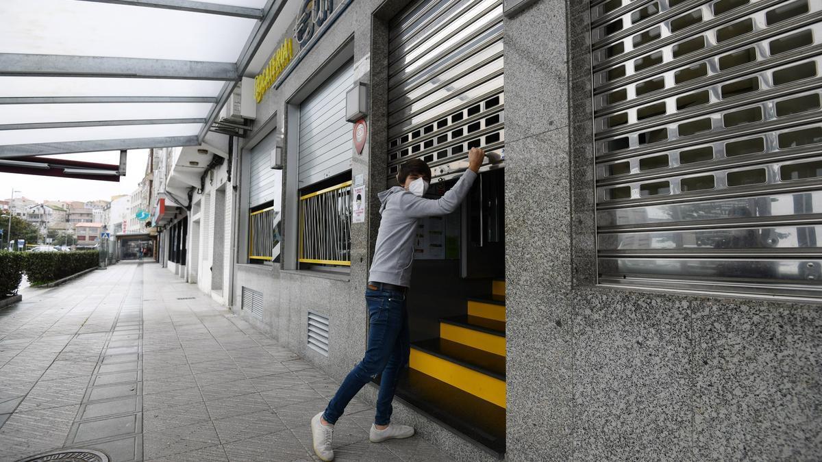 La hostelería cerrada en Sanxenxo