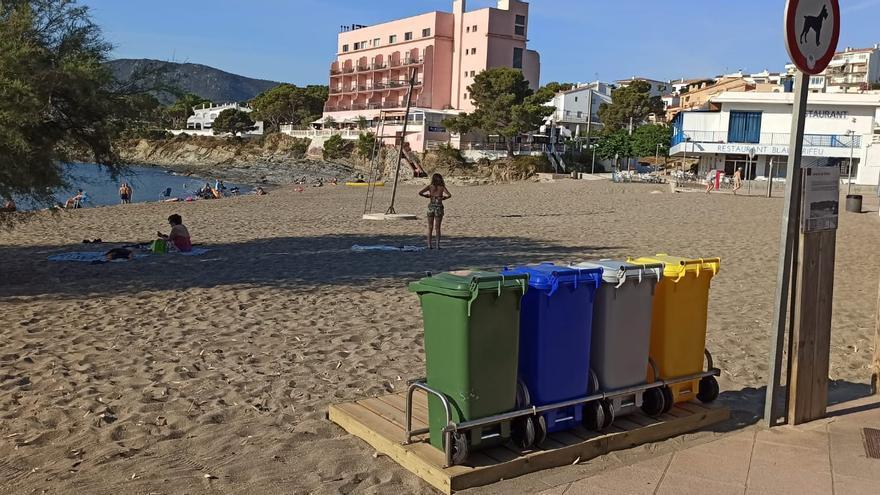Llançà instal·la contenidors de reciclatge a les platges