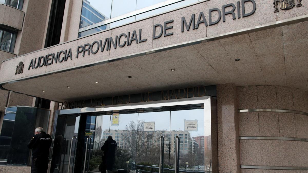 Una imagen de la Audiencia Provincial de Madrid.