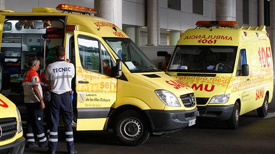 Dos indigentes intoxicados por un incendio  en la antigua prisión de Palma