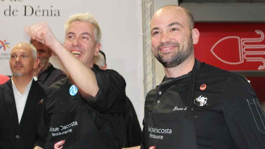 El chef de Dénia Bruno Ruiz gana el concurso internacional de la gamba roja