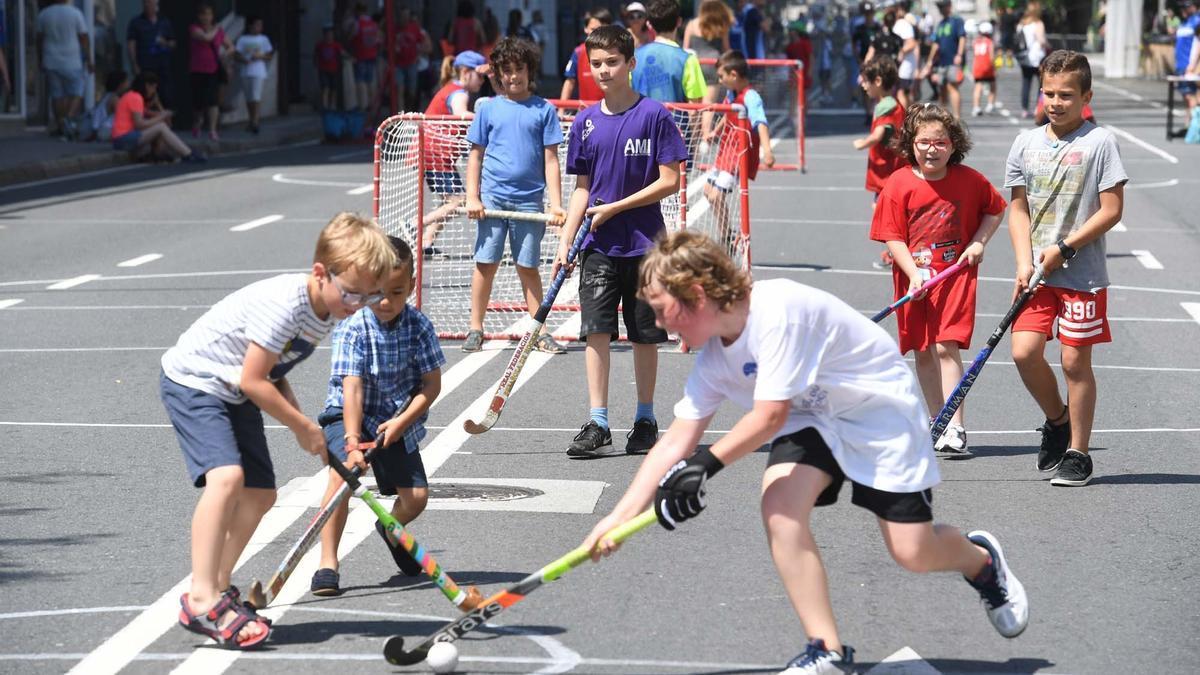 Día del deporte en la calle.