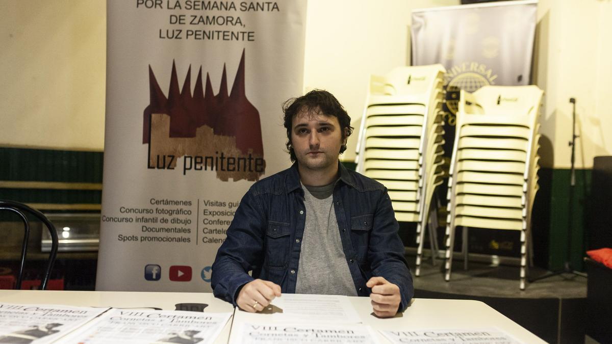 Óscar Antón, presidente de la Asociación Luz Penitente