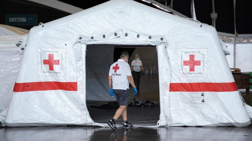 Habilitan el hospital de campaña del Recinto Ferial de Tenerife
