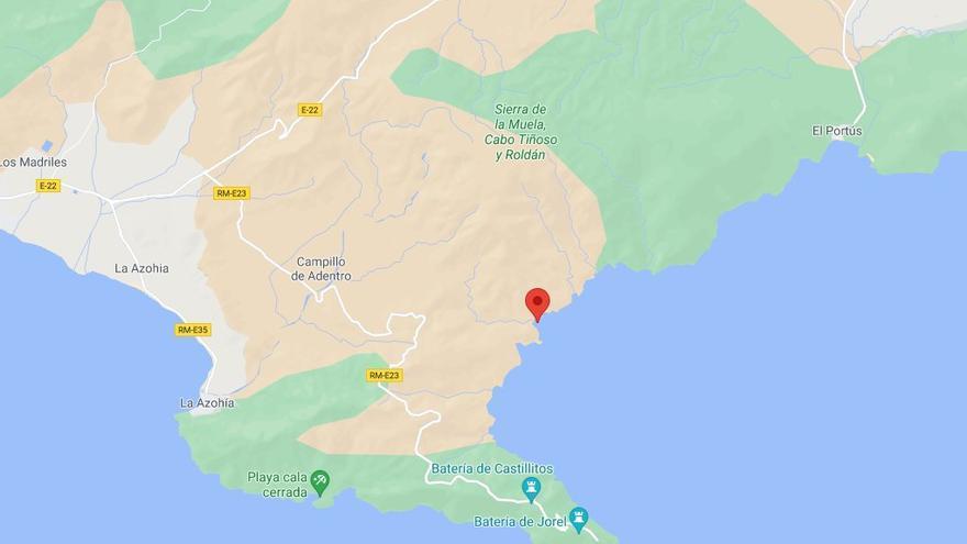 Rescatan por mar a una senderista tras lesionarse en la Sierra de la Muela de Cartagena