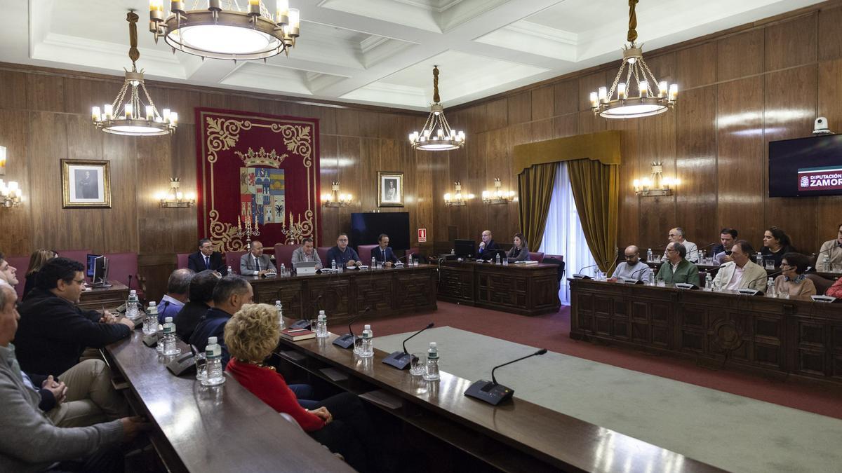 Un pleno de la Diputación de Zamora en una imagen de archivo.
