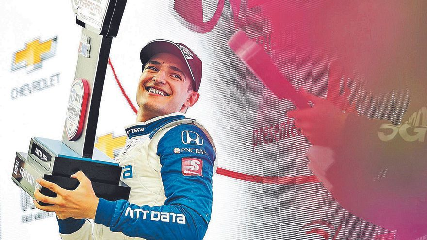 El pilot del «cap ben moblat» que pot fer història a la IndyCar