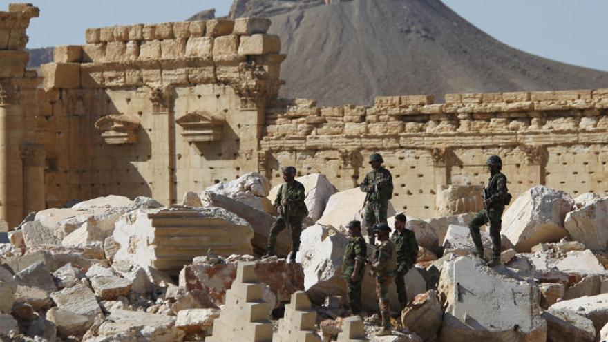 El Ejército sirio entra en Palmira, controlada por el Estado Islámico