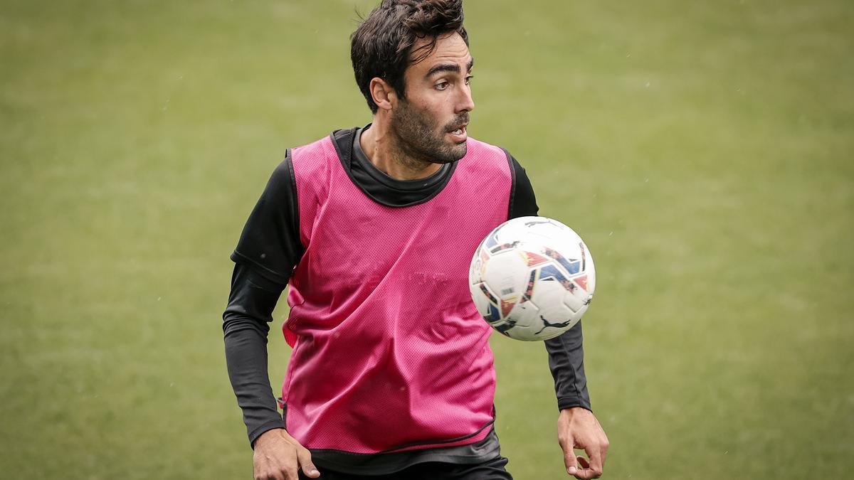 Alberto Escassi, entrenando en Martiricos a comienzos de la semana