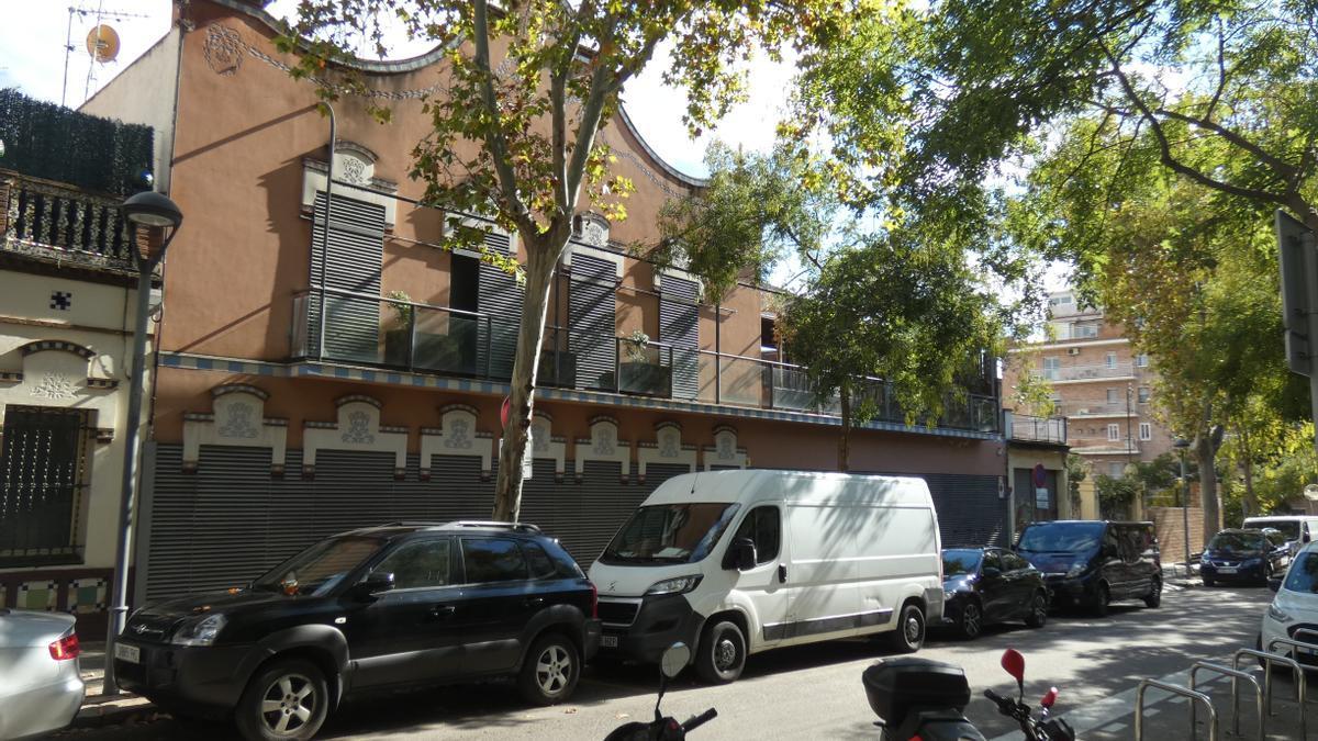 Exterior de la vivienda de Josep María Mainat, en Barcelona.