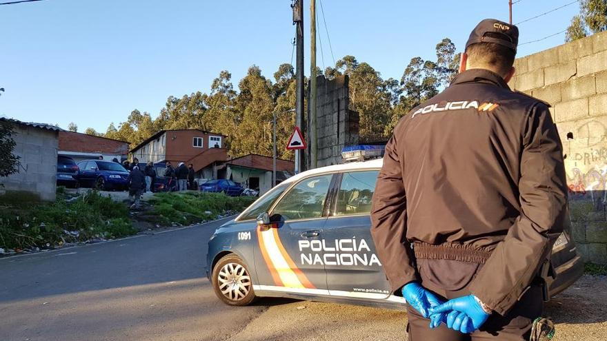 Nueva redada antidroga en el poblado chabolista de O Vao