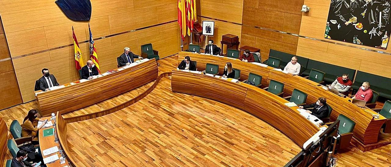 Un instante del pleno de la Diputación de Valencia de diciembre. | LEVANTE-EMV