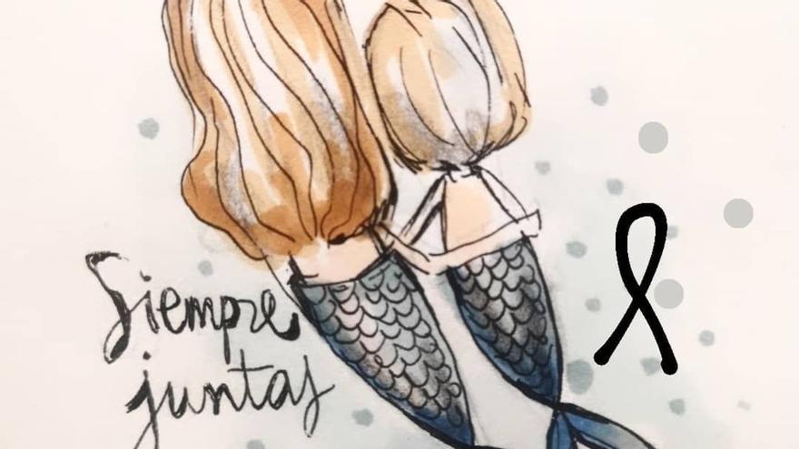 Polèmica per un dibuix que converteix a les nenes de Tenerife en sirenes