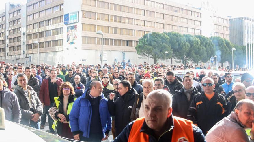 Protestas de los taxistas en Madrid.
