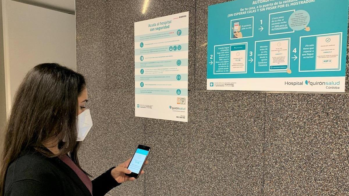 Quirónsalud Córdoba estrena un sistema digital de cita médica sin esperas