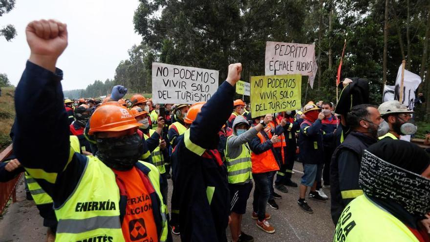 Nueva jornada de protestas contra los despidos en Alcoa San Cibrao