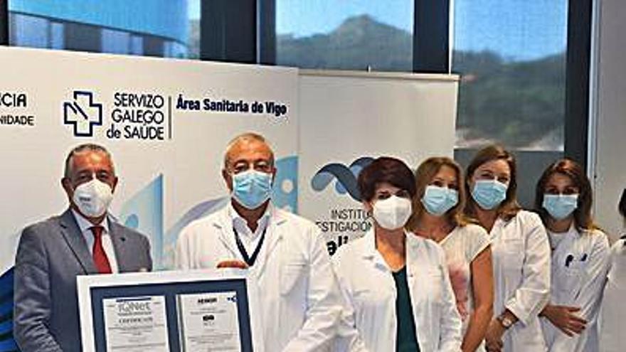 El biobanco del Galicia Sur recibe una importante certificación de calidad