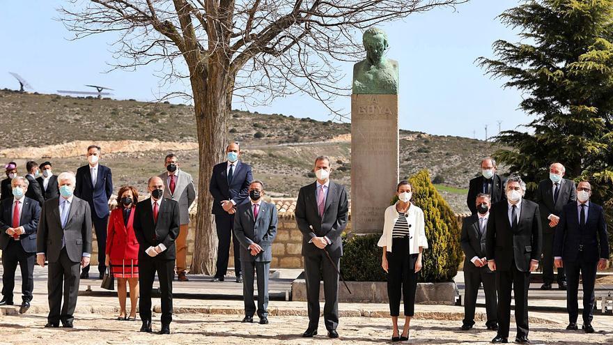 Los Reyes visitan Fuendetodos en el 275 aniversario de Goya