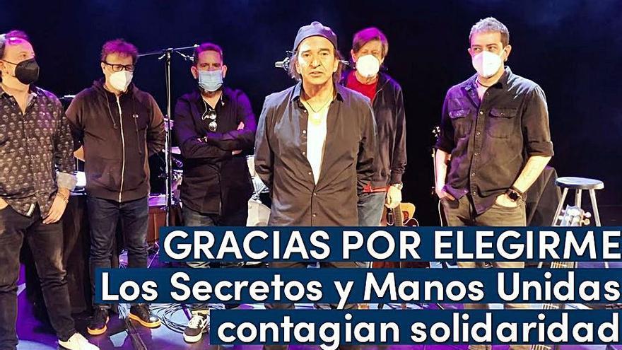 """""""Los Secretos"""" apoyan la campaña de Manos Unidas con """"Gracias por elegirme"""""""