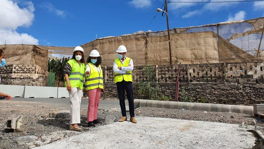 Lopesan retoma las obras de la carretera de Melerana