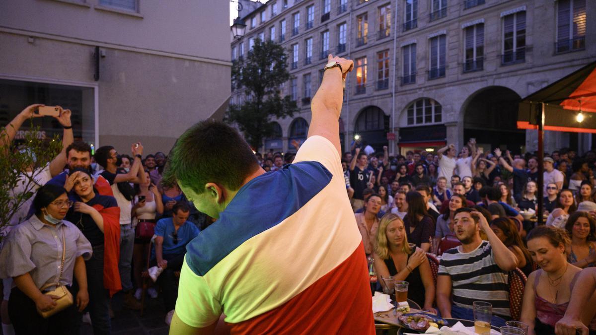 Concentración en las calles de París.