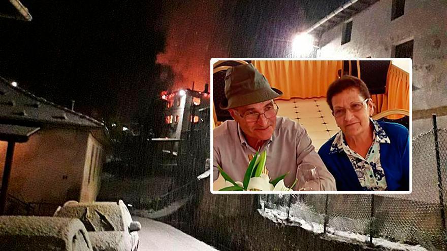 El matrimonio de Allande que vio destruida su casa por un incendio recibe donaciones de los vecinos para reconstruirla