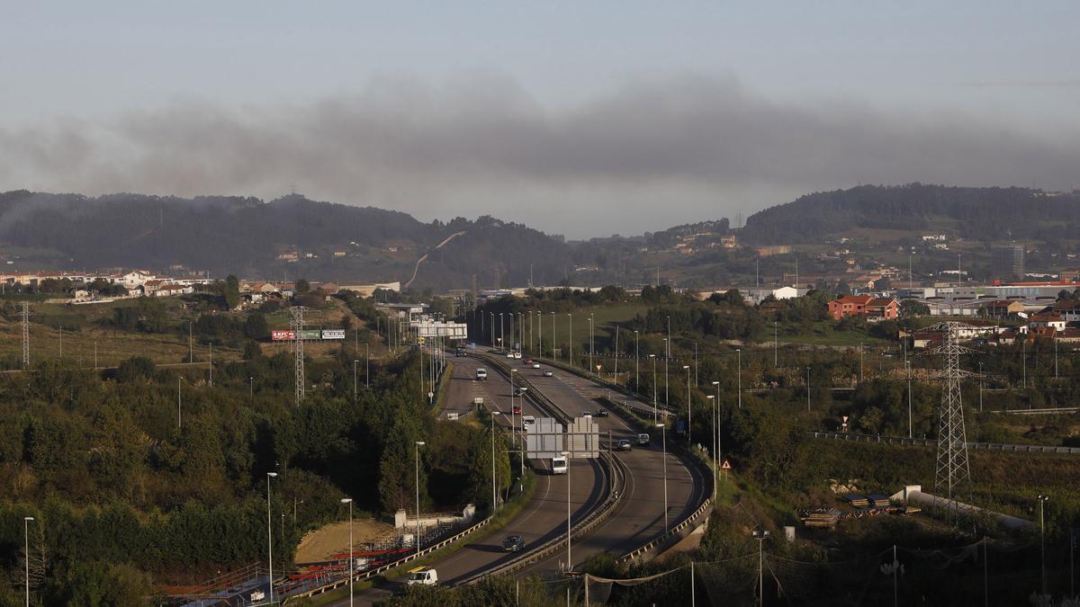 Nube de contaminación sobre la zona oeste.