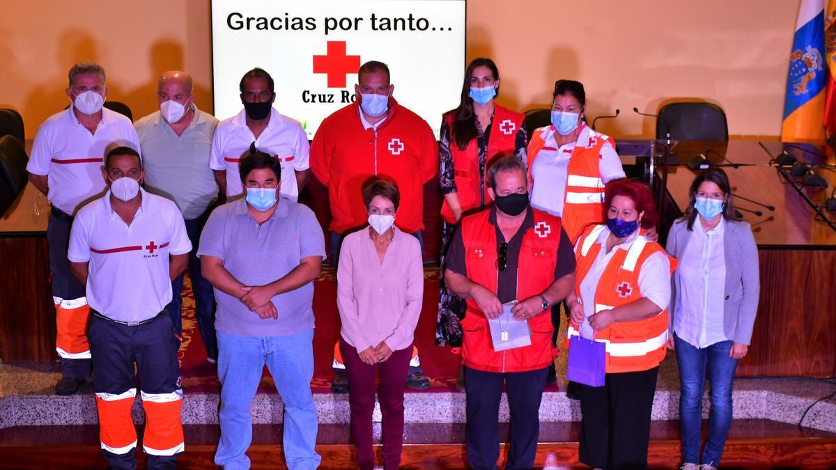 Homenaje a la Cruz Roja de Mogán