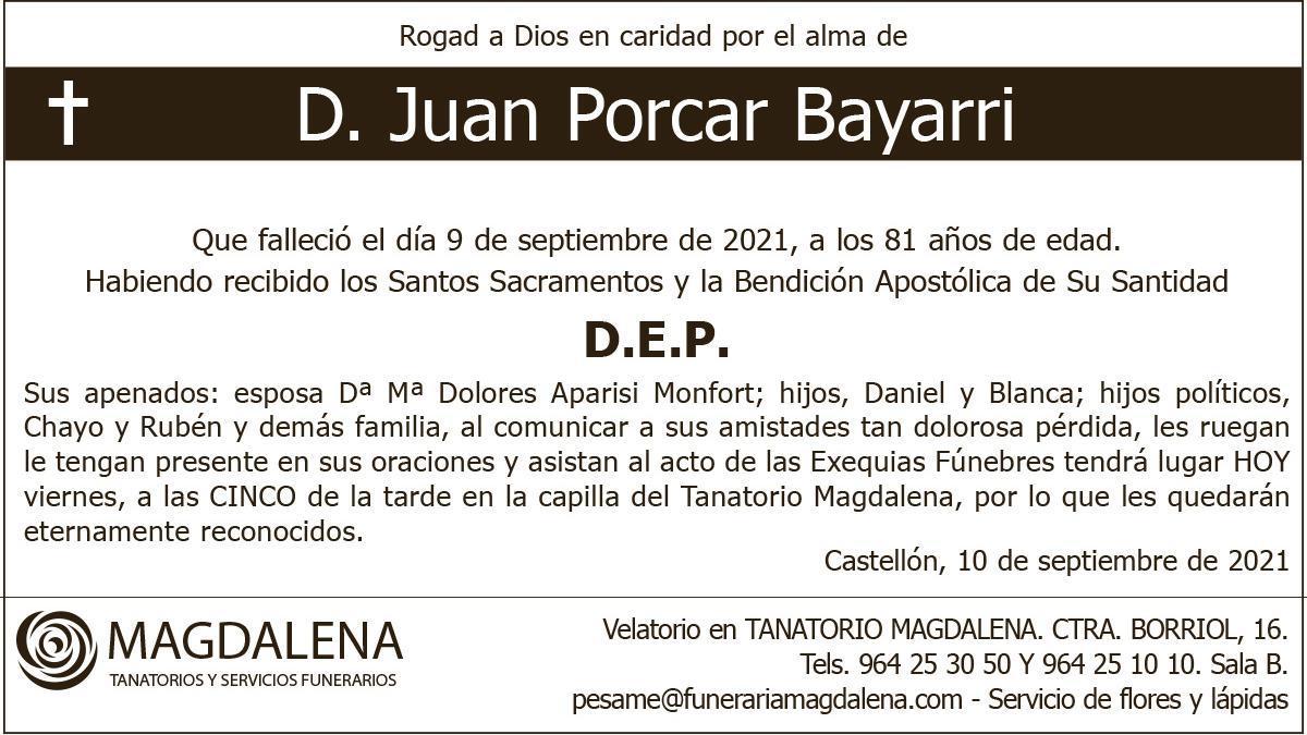D. Juan Porcar Bayarri