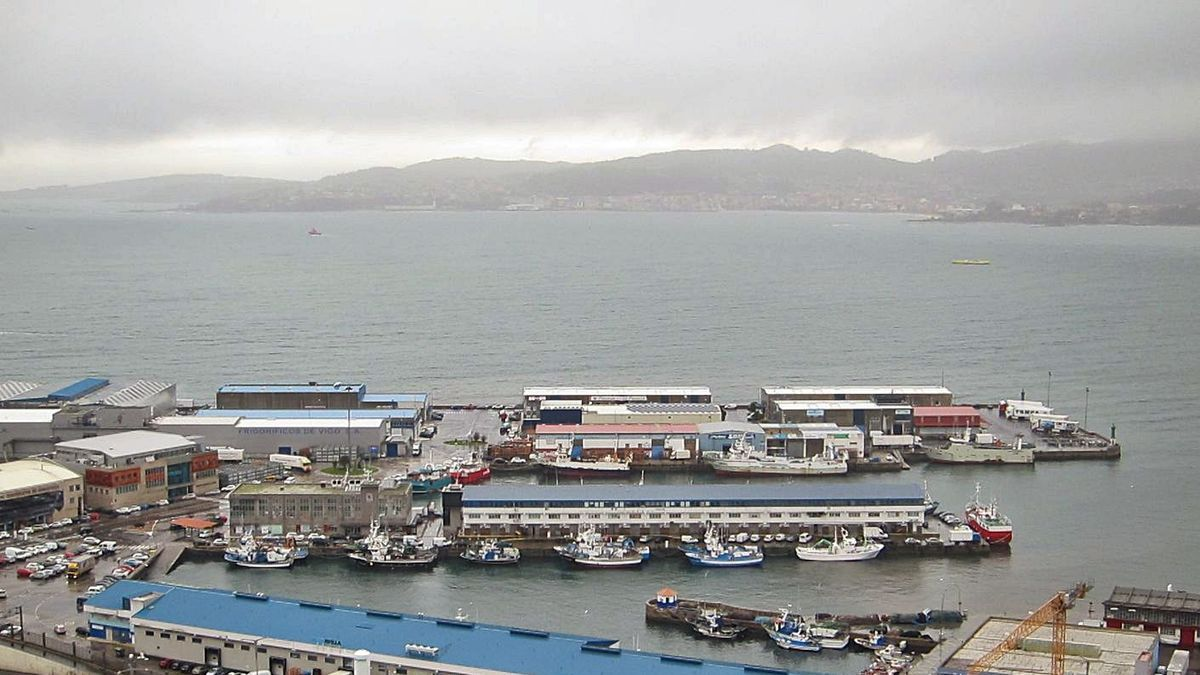 Flota amarrada ayer en Vigo por el temporal. |   // E. P.