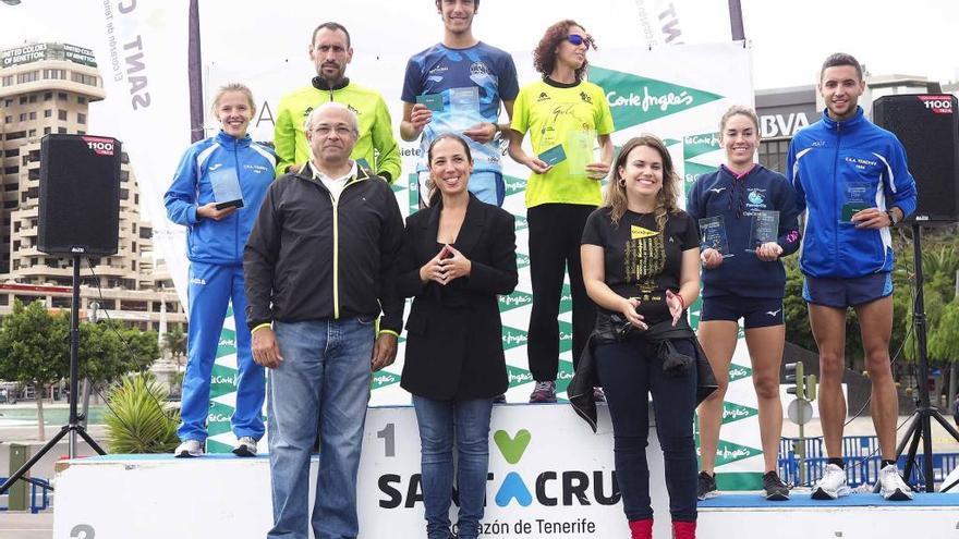 Raúl González y Aroa Merino ganan la distancia de 5 km