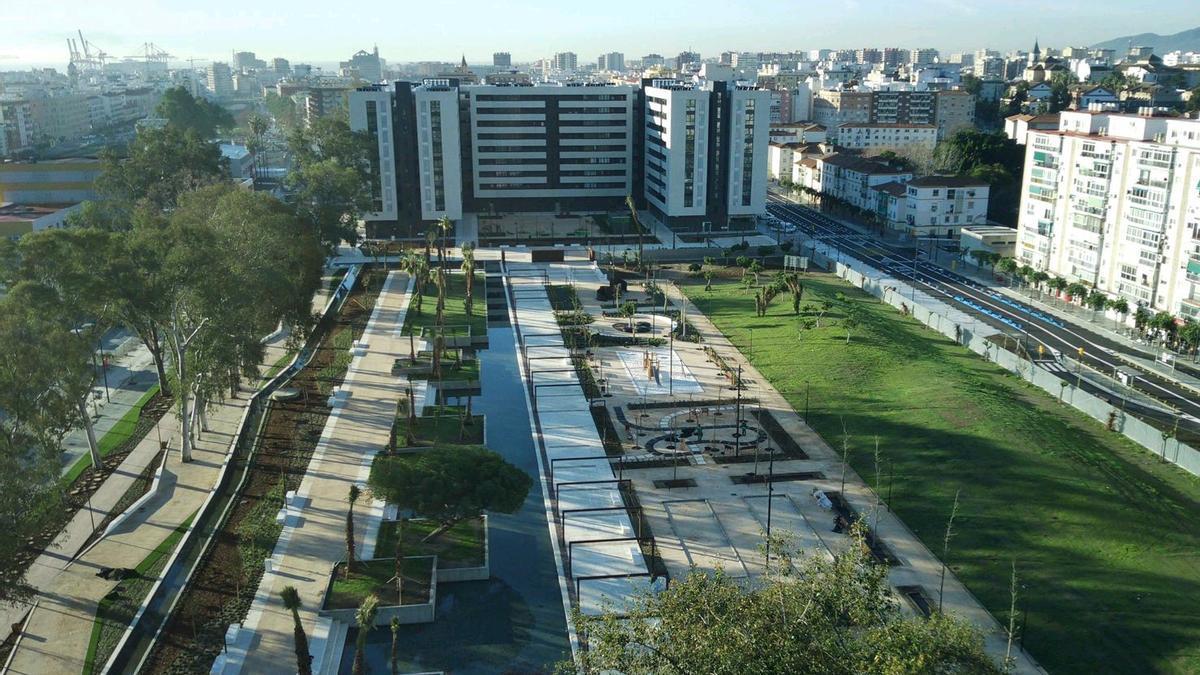 Imagen del parque de Martiricos.