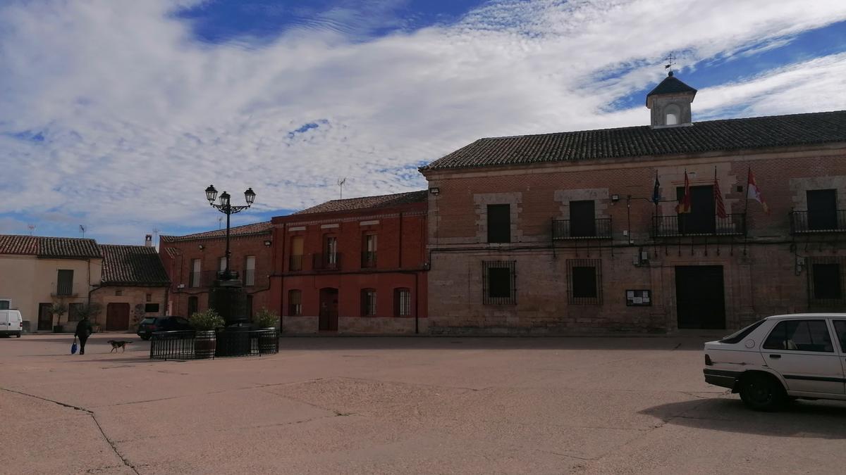 Plaza Mayor de Morales de Toro, en la que tendrá lugar la representación teatral
