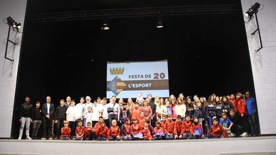 Reconeixen els mèrits de 24 escalencs a la Festa de l'Esport de l'Escala