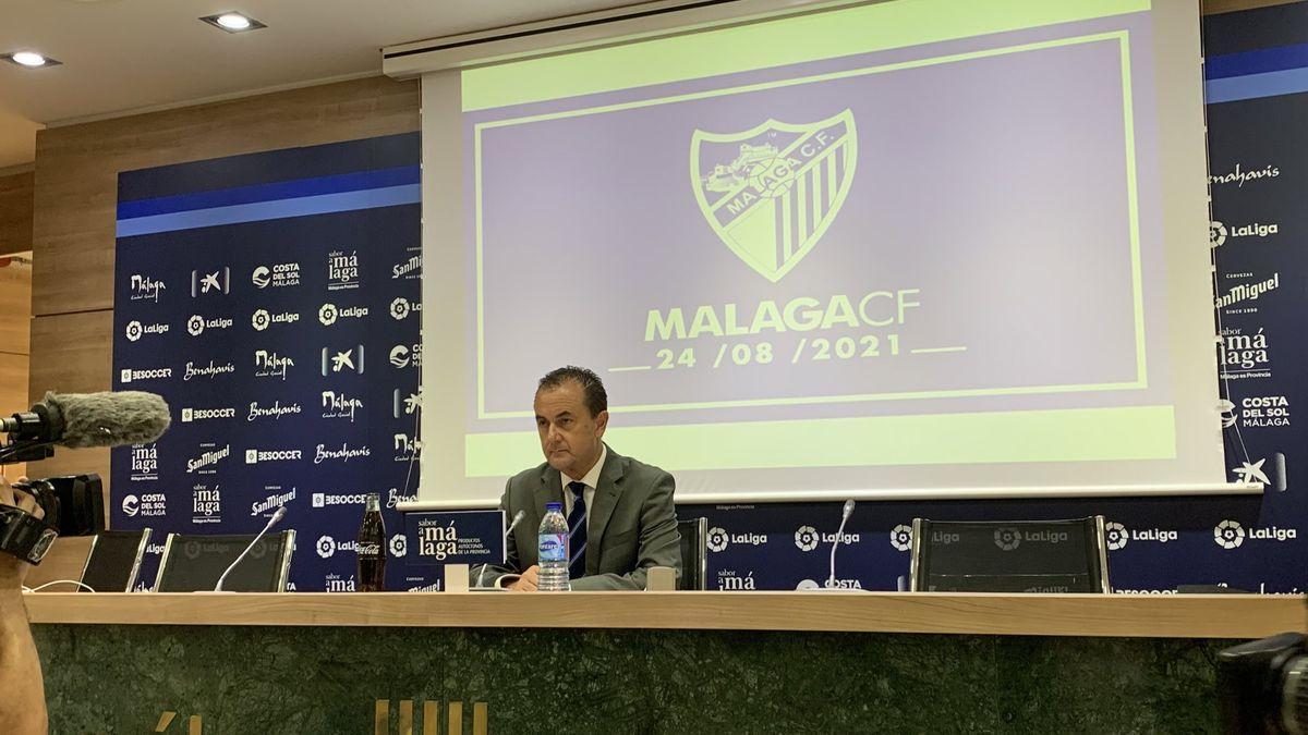 Muñoz, en su última aparición pública en la sala de prensa de Martiricos