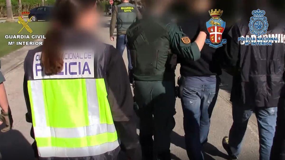 Miembros de la 'Ndragheta detenidos en España.