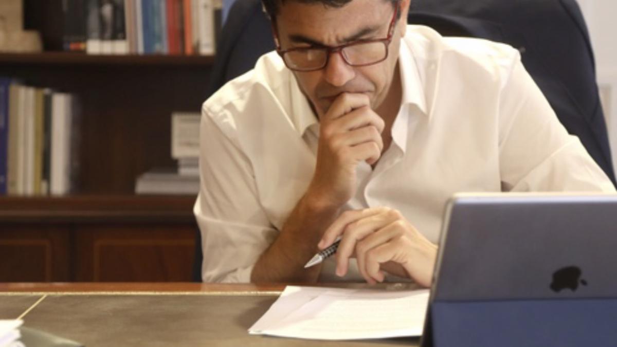 El presidente de la Diputación , Carlos Mazón
