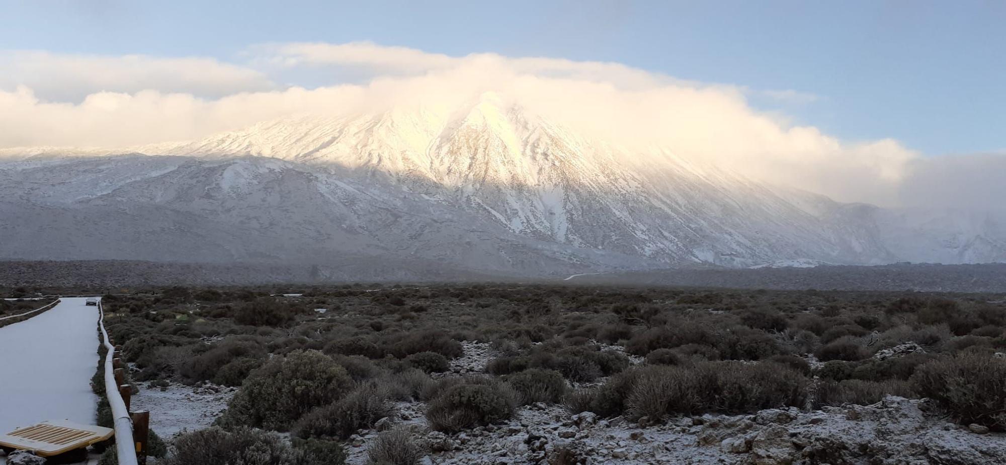 Las imágenes de la nevada en Tenerife