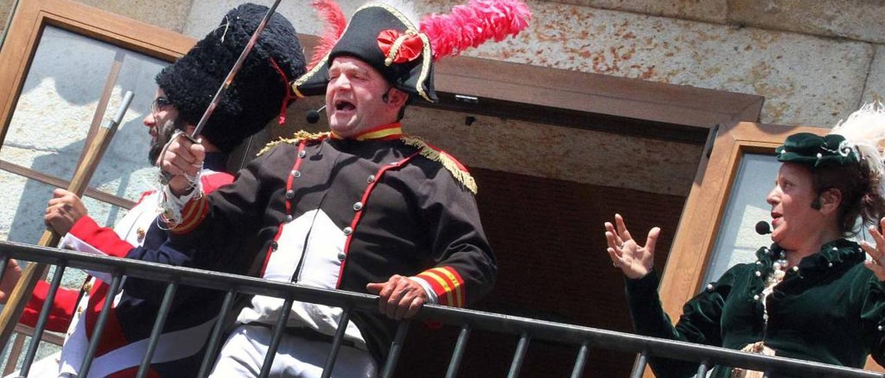 Baldomero García en una de sus representaciones en Arde o Pazo. // A. Hernández