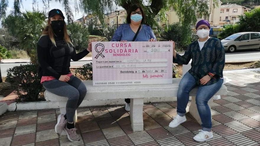 Dos mil euros desde la Marina Alta para la investigación del cáncer infantil