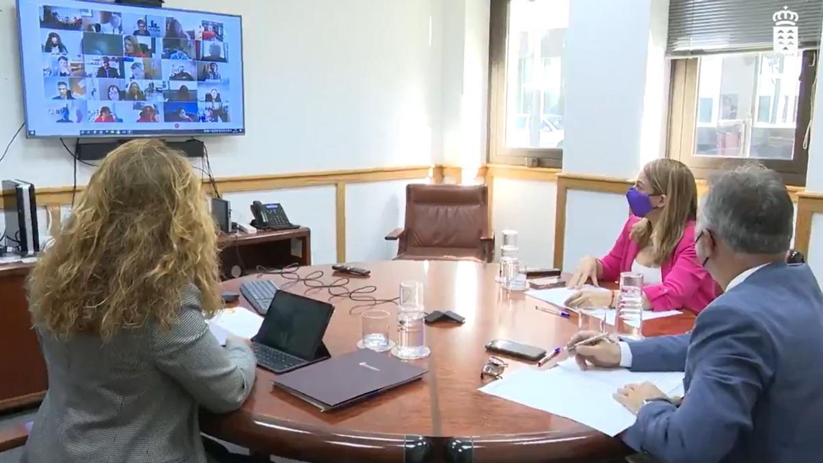 Reunión del Foro Canario de Inmigración.