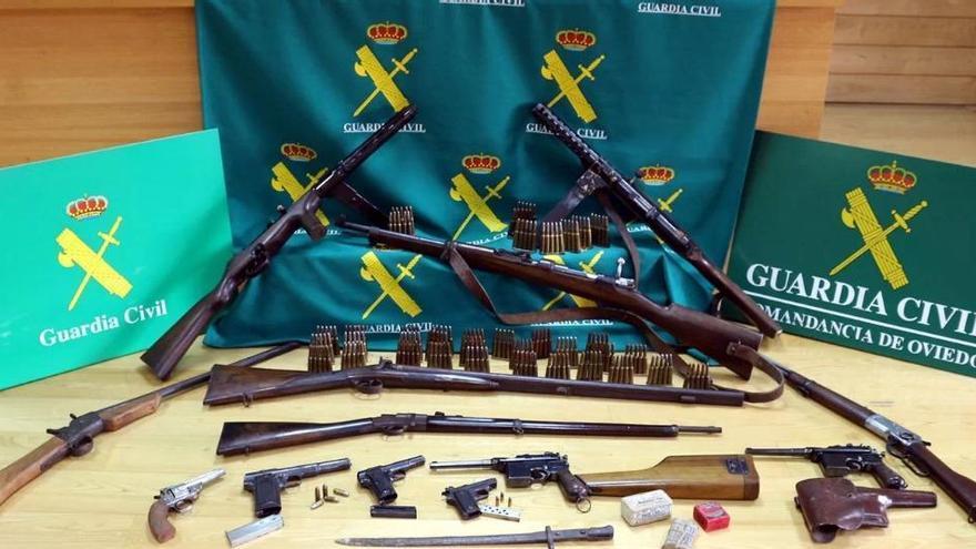 Año y medio de prisión para dos hermanos mierenses por tener en casa un arsenal de armas heredadas