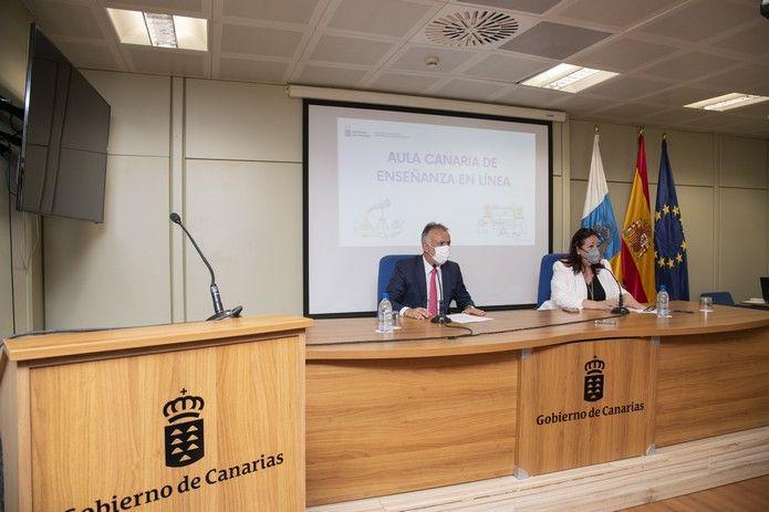 El Gobierno canario presenta el Aula Online
