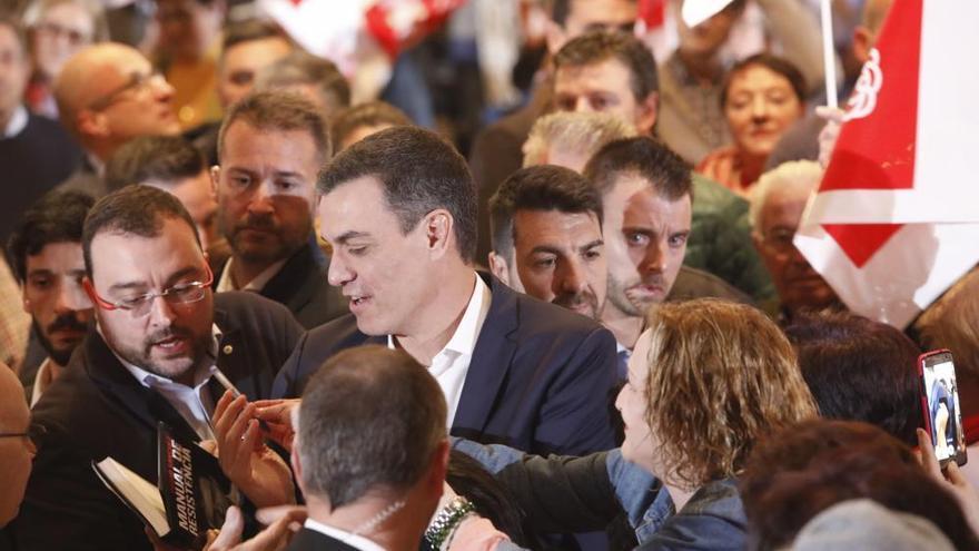 Mitín de Pedro Sánchez en Gijón