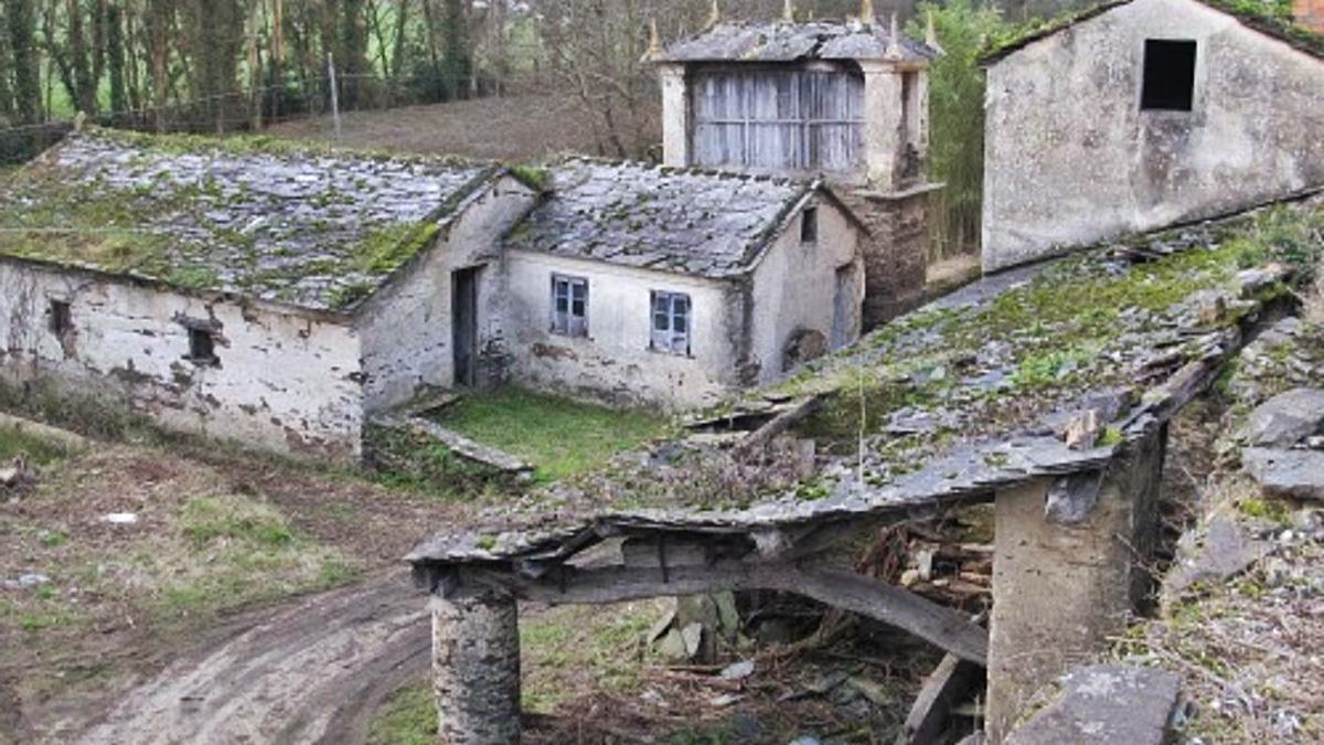 Una aldea abandonada en Lugo.  // L .O | .