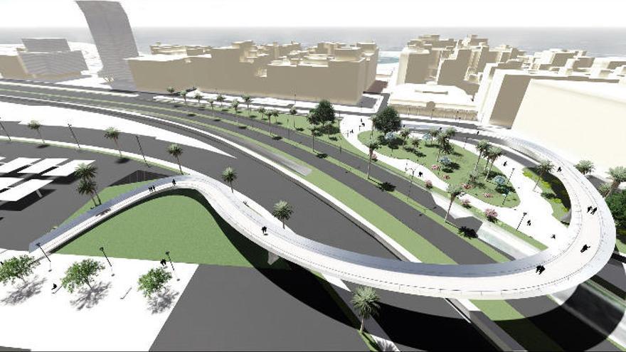 Diez empresas aspiran a construir la pasarela del Puerto